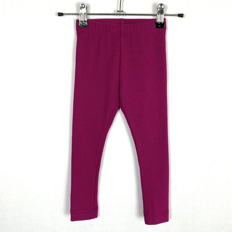Hanna Andersson Little Girls Leggings Pants Toddler 3T 90cm Dark Pink Fuchsia