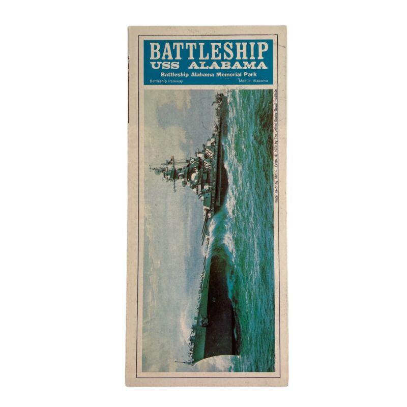 1970 Battleship USS Alabama Memorial Park Vintage Pamphlet
