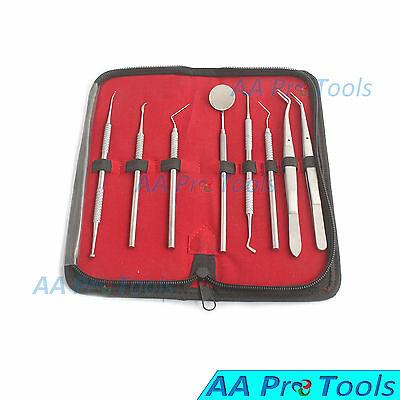 Dental Kit Mirror Scaler Set 8pc Stainless Professional Dentist Pr-560