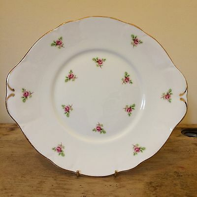 Vintage Fenton Bone China Rosebud Sandwich Plate Sweet Chintz Tea Party VGC