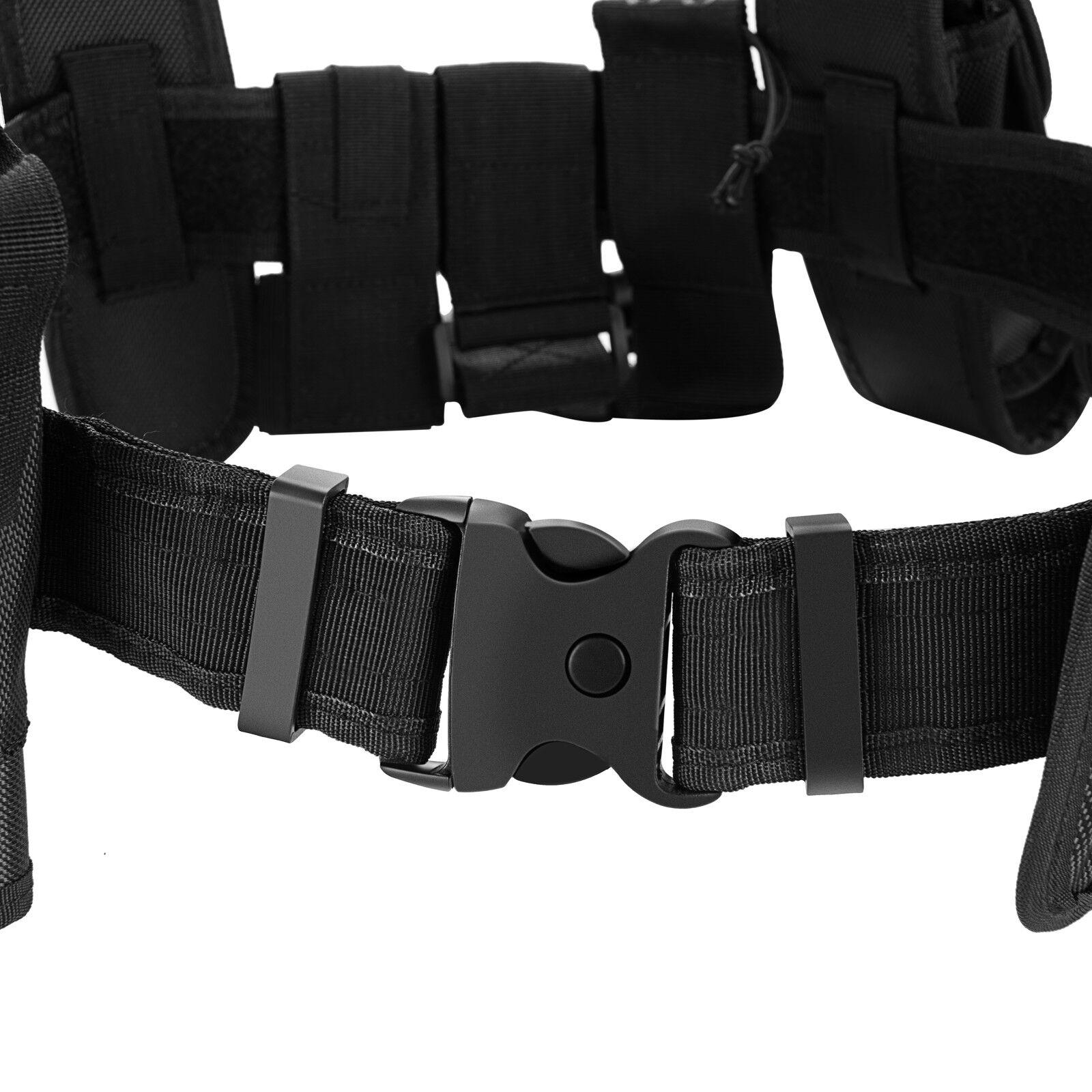 Police Security Guard Modular Enforcement Equipment Duty Belt Tactical 600 Nylon