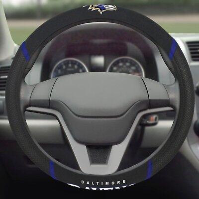 Baltimore Ravens Embroidered Steering Wheel Cover (Ravens Steering Wheel Cover)