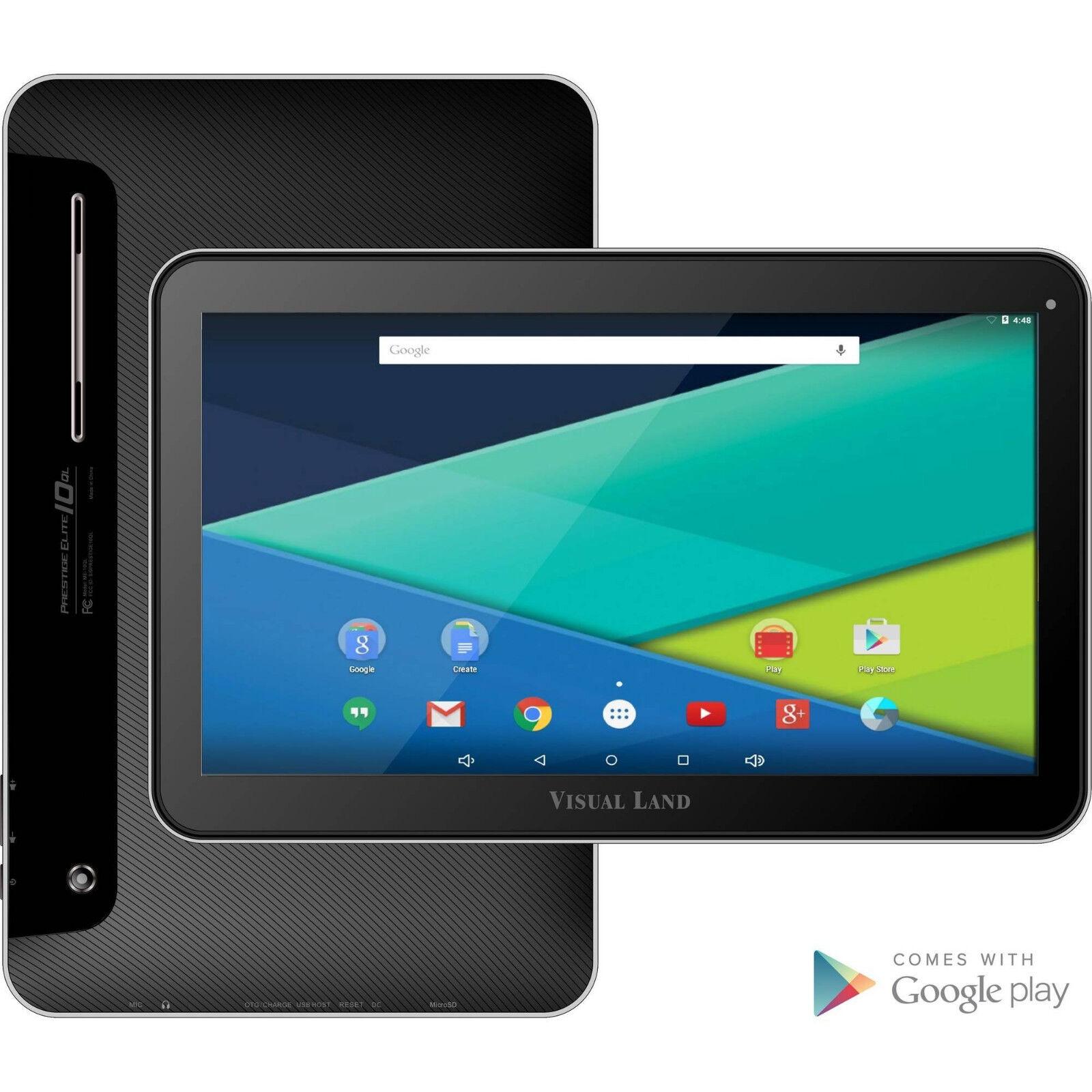 """Visual Land Prestige 10.1"""" Tablet 16gb Quad Core Wifi Blu..."""