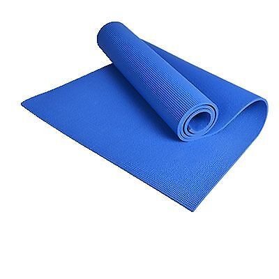 Yoga Mat for Exercise Fitness Pad Non-slip Pad Lose Weight Blue EVA 68*24*