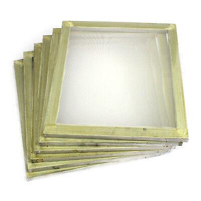 6 Pack Aluminum Silk Screen Printing Press Screens 110 White Mesh 20 X 24