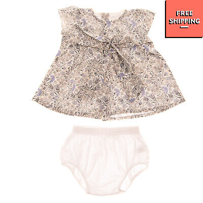 STORY LORIS Flare Dress & Bloomer Set Size 1-3M / 54-60CM Floral Made in italy