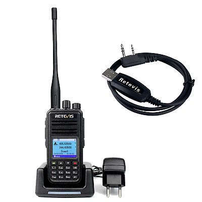 Retevis RT3S Dual Band(UHF/VHF) DMR Walkie Talkie Upgraded version of RT3+USB