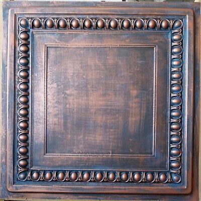 Ceiling tiles 2x2 Faux tin rust copper decor saloon wall panel PL06 10pcs/lot