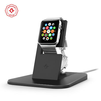Twelve South HiRise for Apple Watch, black, Metal charging dock for Apple Watch