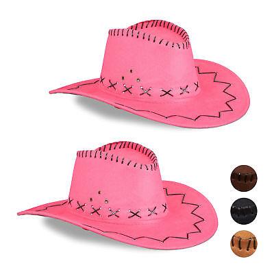 wgirlhut Faschingshut Scherzhut Karneval Fasching Westernhut (Cowgirl Hut Pink)