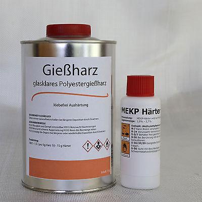 1 Kg Gießharz (glasklar)+ 20 g Härter (Polyesterharz, casting resin)