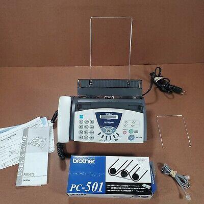 Brother 575 Personal Plain Paper Faxphonecopier Pc501 Cartridge