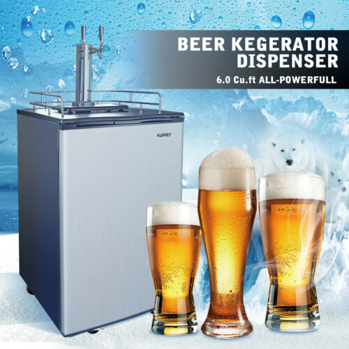 6.0 Cu Ft Dual-Tap Full Size Kegerator Brew Beer Dispenser C