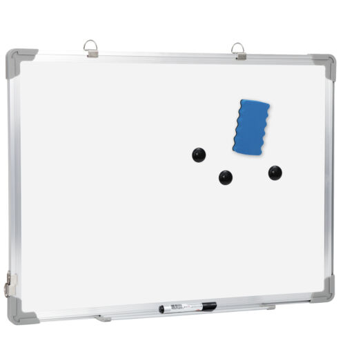 Magnetic Whiteboard 18 x 24 inch Dry Erase White Board Wall Hanging Board Business & Industrial