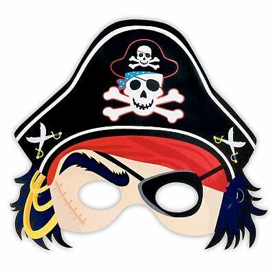 Amscan Pirates Treasure Pirate Mask with Hat 21.6cm x 22.8cm](Paper Pirate Hat)
