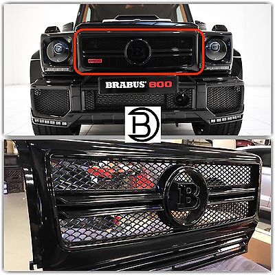 BRABUS Style G6365 W463 ALL BLACK Grille Complete