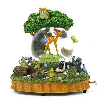 Disney Bambi friends and Flower Little April Showers Musical & Motion Snowglobe