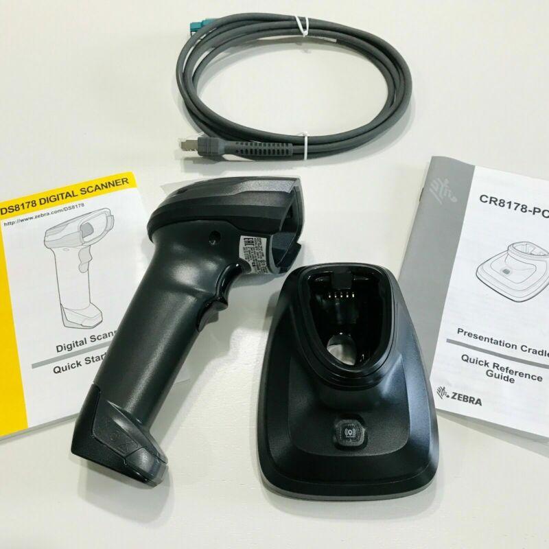 ZEBRA DS8178 Cordless Handheld Barcode Scanner Kit  & USB Cable&battery