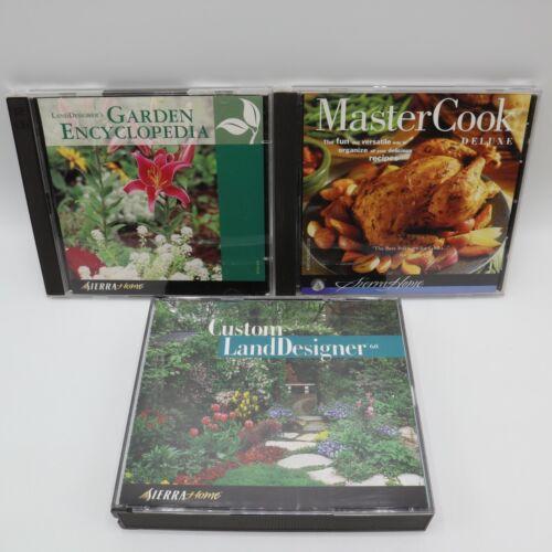 PC CD-ROM Lot - Sierra Home - Master Cook Custom Landesigner Garden Encyclopedia