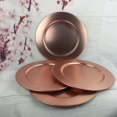 Copper Charger Plates (Charger plate brushed copper set of 4 Stainless)