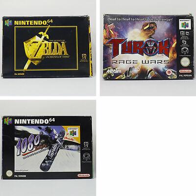 N64 Bundle Zelda: Ocarina of Time, Turok: Rage Wars, 1080 Snowboarding