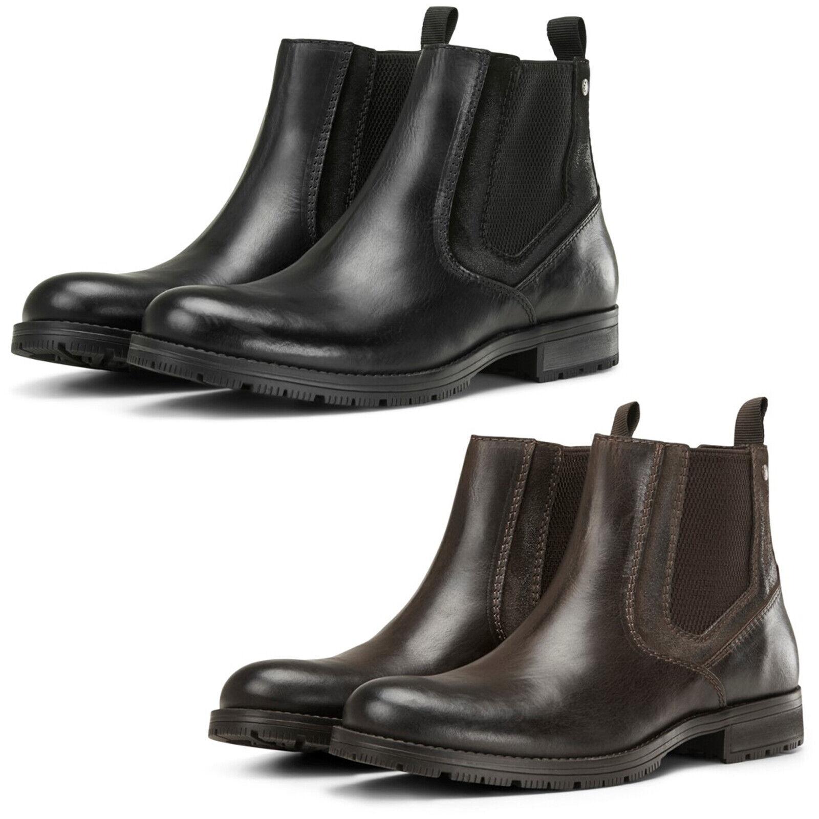 Jack \u0026 Jones Chelsea Boots Mens Leather