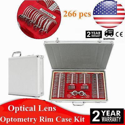266 Pcs Optical Trial Lens Set Metal Rim 1 Pc Free Trial Frame Aluminum Case
