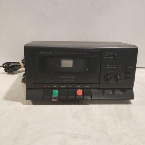 Optimus Model No. 14-654 SCT-86 Stereo Cassette Tape Deck Dolby