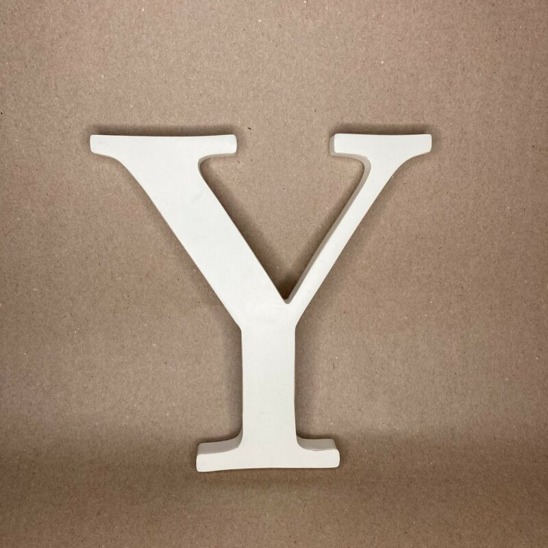 """POTTERY BARN KIDS Oversized Wall Uppercase Letter 8"""" White """"Y"""" 4334033 Initial"""