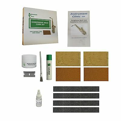 Neck Kit - Saxophone Neck Cork Kit, Natural Sax Corks and Composite Sax Corks, All Saxes!