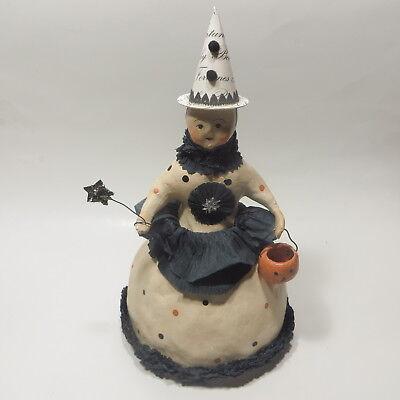 Nicol Sayre Folk Art Halloween Witch Figure 11