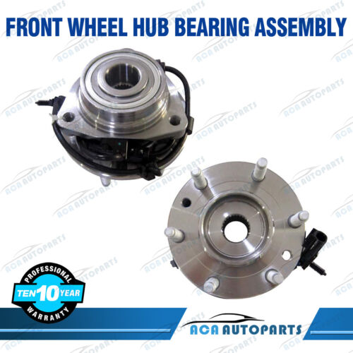 Pair of 2 Front Wheel Bearing Hub For Chevy Trailblazer GMC Envoy Bravada 513188