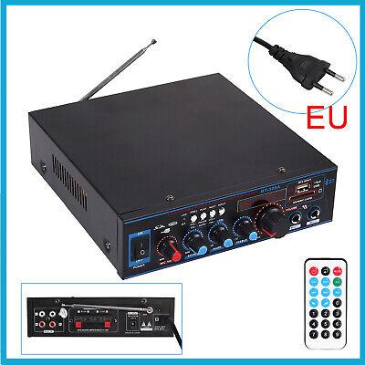 AMPLIFICADOR DE AUDIO HIFI 800W 12V 220V USB SD RADIO FM PARA...