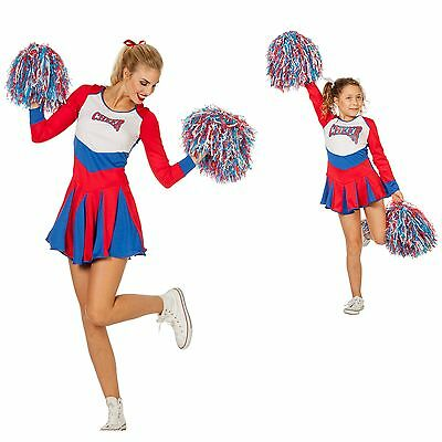 W4264 Wilbers Damen Kinder Cheerleader Kleid Cheer Leader Gr. 128 cm bis  Gr. 48