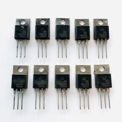 Pkg Of 10 Tip31c Npn Power Transistor 3a 100v Motorola To-220