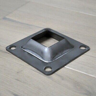4 X 4 Raised Base Plate Steel Beveled Bracket For 1-12 Metal Posts Skirt