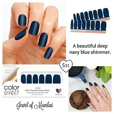 Color Street JEWEL OF MUMBAI 100% nail polish strips Retired