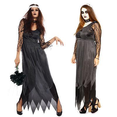 Ladies Halloween Witch Princess Vampire Zombie Bride Corpse Fancy Dress Costume](Halloween Fancy Dress Zombie Bride)