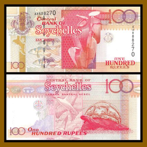 Seychelles 100 Rupees, ND 1998 P-39 Bird Turtle Shells Unc