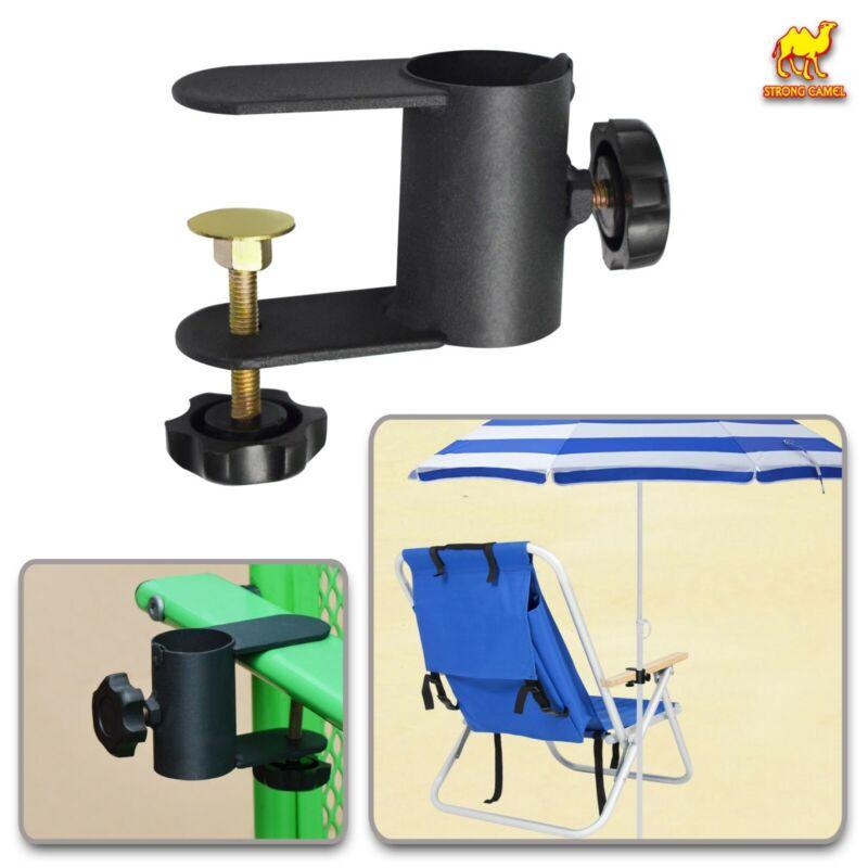 "Beach Fishing Umbrella Mount Chair Clamp Metal Clamp Holder Clip  <= 1.1"" Pole"