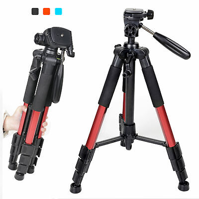 Q111 Professional Heavy Duty Color Choice Tripod&Pan Head for DSLR Camera US