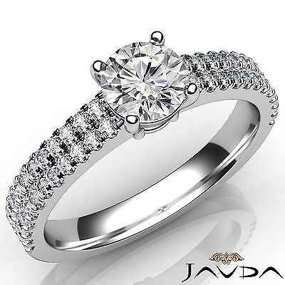 Double Prong Setting Round Cut Diamond Engagement Ring GIA Certified D SI1 1Ct