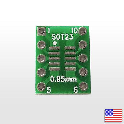 Sot23 Ssop10 Msop10 Umax 0.50.95mm To Dip Adapter Pcb Breakout Board Converter