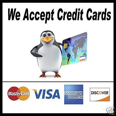We Accept Credit Cards Decal 14 Concession Food Truck Restaurant Sticker