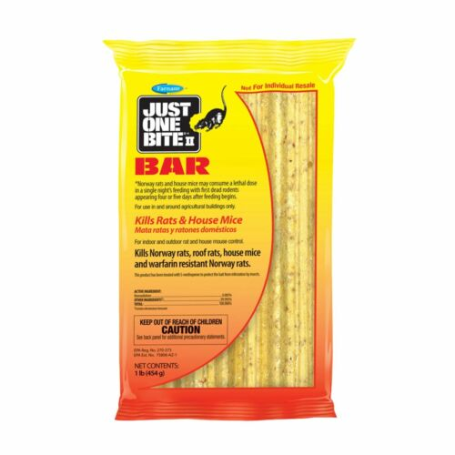 Just One Bite II Bait Bars Block Rodent Rat Mouse Mice Killer, 1 Lbs Pack