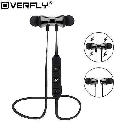 Bluetooth In Ear Kopfhörer XT-11 Magnetisch Wireless Headset Bass Beats Gunmetal ()