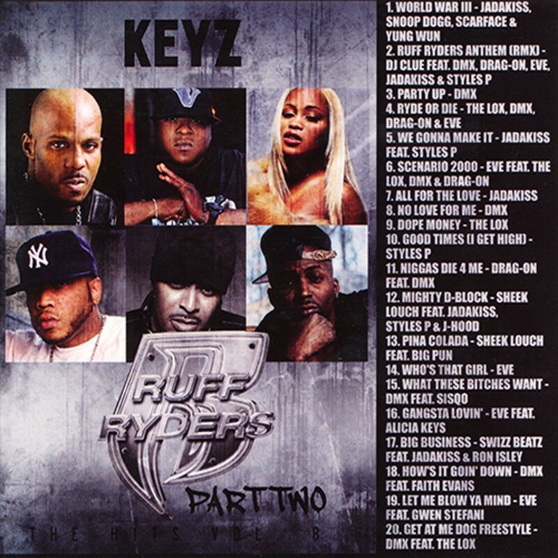 Dj Keyz - The Hits Vol. 8: Ruff Ryders Pt. 2 (mix Cd) The Lox, Dmx, Drag-on, Eve