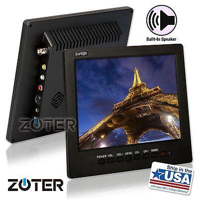 "ZOTER 8"" LCD Portable CCTV Monitor Video Audio BNC VGA for Security DVR Camera"
