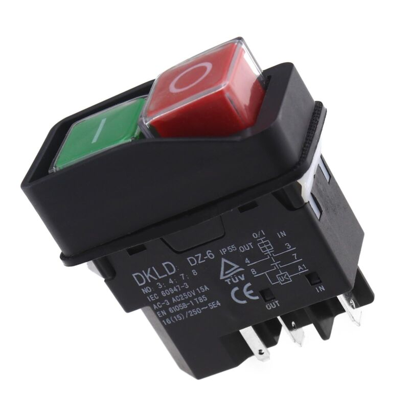 For Belle 240V IP55 ON Off Switch Red & Green Button Minimix Electric Parts