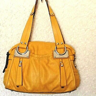 "Auth ""B.Makowsky"" purse/hobo in honey yellow genuine glove leather  for sale  Yucca Valley"